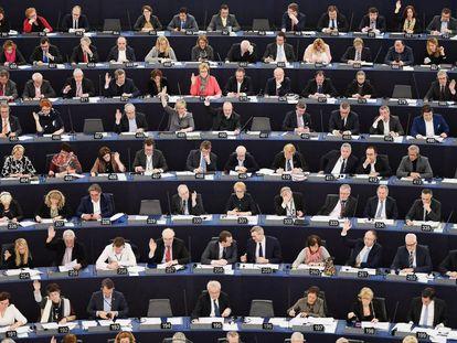 Miembros del Parlamento europeo, la semana pasada.