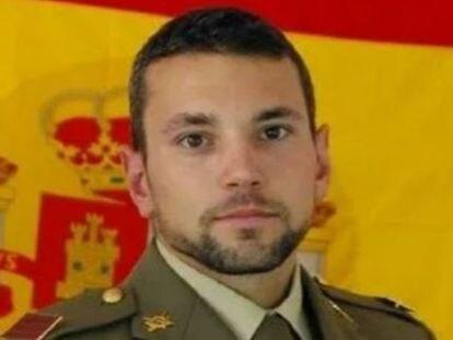 El sargento Rafael Gallart Martínez, fallecido en un salto paracaidista.