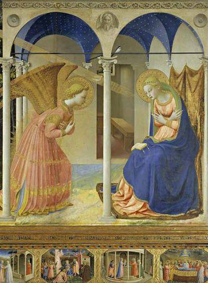 <i>La Anunciación</i> (hacia 1426), de Fra Angelico, obra del Museo del Prado.