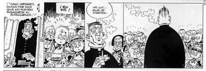 Viñeta de un cómic de de Carlos Giménez titulado 'Paracuellos 3'.