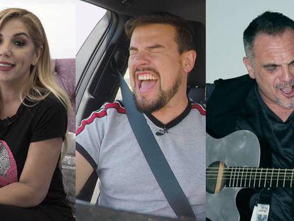 Rebeca, Raúl y Lorca, en tres momentos del vídeo.