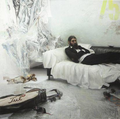 El 'hipster' de estética modernista que expone Jordi Díaz Alamà.