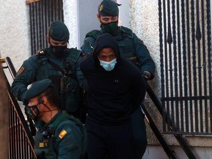 José Arcadio D. N. a su salida de los juzgados de Fuengirola (Málaga).