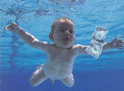 Carátula del disco 'Nervermind' de Nirvana, que convirtió al progagonista en el bebé desnudo más famoso del universo musical