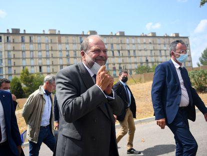 El ministro francés de Justicia, Eric Dupond-Moretti, este martes en Marsella.