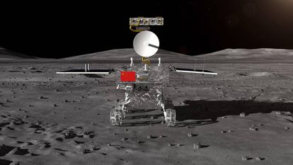 Recreación del vehículo lunar de la sonda 'Chang'e-4'.