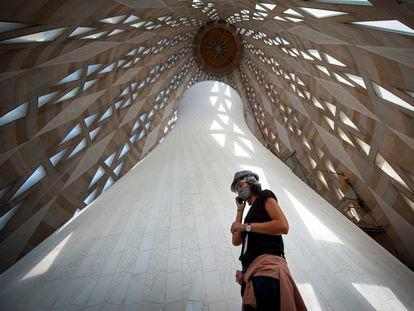 Interior de la torre de María de la Sagrada Familia que se terminará en 2021 y tendrá 138 metros de altura.