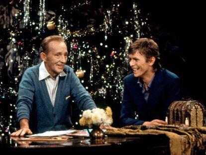 Bing Crosby y David Bowie, en el especial de Navidad de 1977.