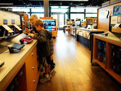 Librería de Amazon, donde promoconan sus populares libros electrónicos.