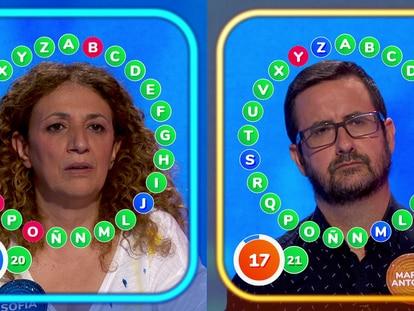 Sofía y Marco Antonio, concursantes de 'Pasapalabra'.