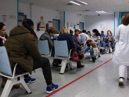 Sala de espera de Urgencias del Hospital Universitario de la Princesa, en Madrid, en enero de 2020.