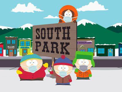 Los personajes de 'South Park'.