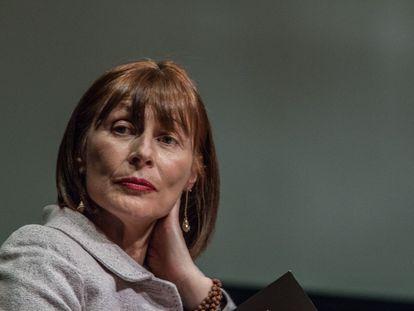 Tatiana Clouthier, en la presentación en Ciudad de México de su libro en 2019.