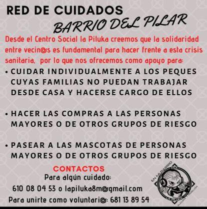Red de Cuidados Barrio del Pilar