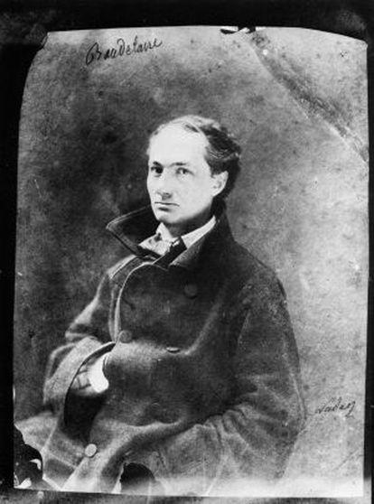 Retrato fotográfico del poeta Charles Baudelaire.