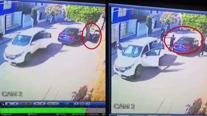 Fotogramas de la grabación del asesinato de El Walo en Celaya, Guanajuato.