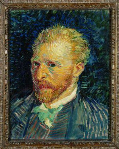 'Retrato del artista' (1887), cuadro de Van Gogh que se podrá visitar en la fundación Mapfre de Barcelona.