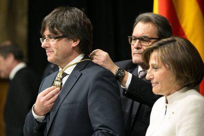 Carles Puigdemont, el día que tomó posesión