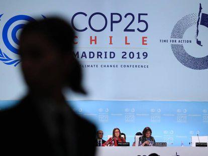 Cierre de la anterior Cumbre del Clima, celebrada en diciembre de 2019 en Madrid.