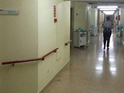 Interior de la Unidad de Medicina Interna del hospital de Alcalá de Henares.