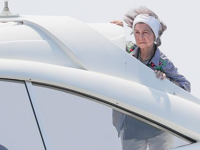 La reina Sofía, en la Copa del Rey de Palma de Mallorca celebrada en agosto de 2018.