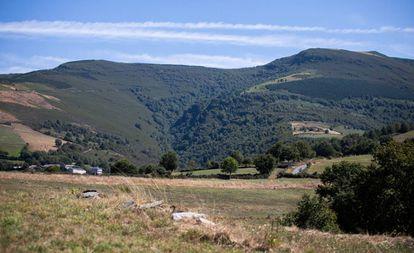 La sierra de O Iribio (Lugo), donde está previsto que se levante un parque eólico con ocho aerogeneradores.