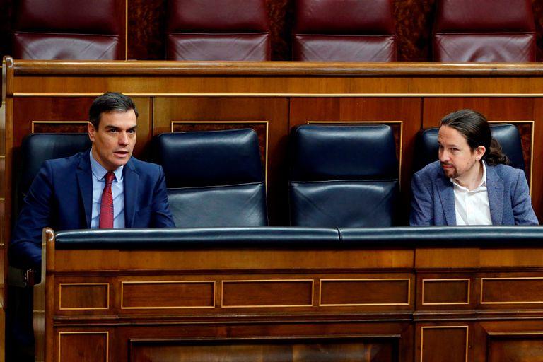 Pedro Sánchez y Pablo Iglesias, el pasado jueves en el Congreso.
