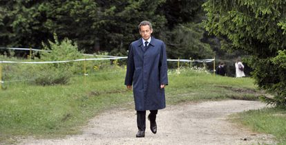 Nicolás Sarkozy en los Alpes franceses, en mayo de 2011.