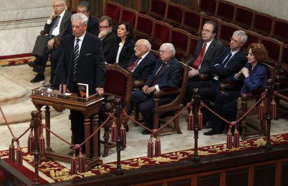 Mario Vargas Llosa durante la conmemoración de 'La ciudad y los perros'.