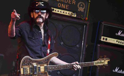 Ian Fraser 'Lemmy' Kilmister durante una actuación en Somerset (Reino Unido), en 2015.