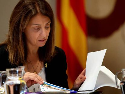 La consejera de Presidencia y portavoz del Govern, Meritxell Budó, este martes.