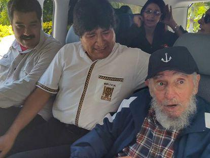 Maduro, Morales y Castro, hoy en La Habana.