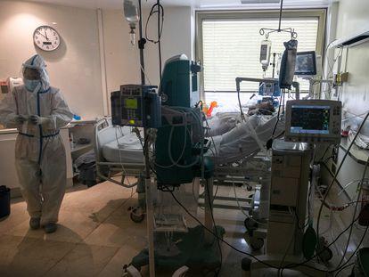 Hospital Gregorio Marañón, durante la crisis del coronavirus.