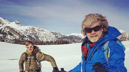 Simon y Reinhold Messner.