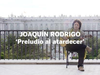 Juan Manuel Cañizares toca 'Preludio al atardecer', de Joaquín Rodrigo, en exclusiva para EL PAÍS.