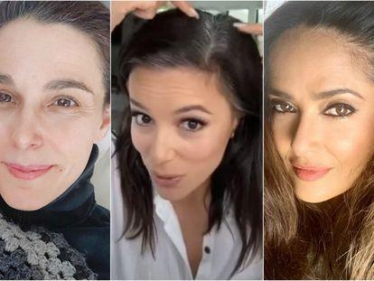 De izquierda a derecha, Raquel Sánchez Silva, Eva Longoria y Salma Hayek.