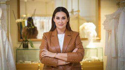 Vicky Martín Berrocal, en su tienda de Victoria en Madrid, el 4 de marzo de 2021.