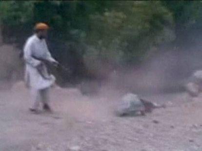 Vídeo que muestra la ejecución de la mujer.