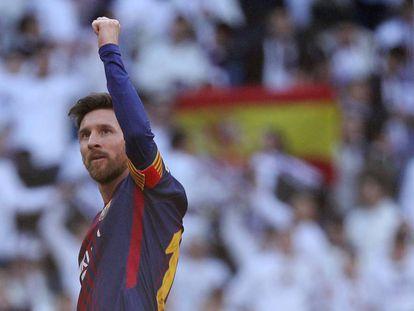 Messi celebra al final de un partido el pasado 23 de diciembre.