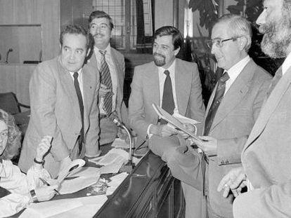 El Congreso de los Diputados el 7 de noviembre de 1978. En la imagen, Soledad Becerril.