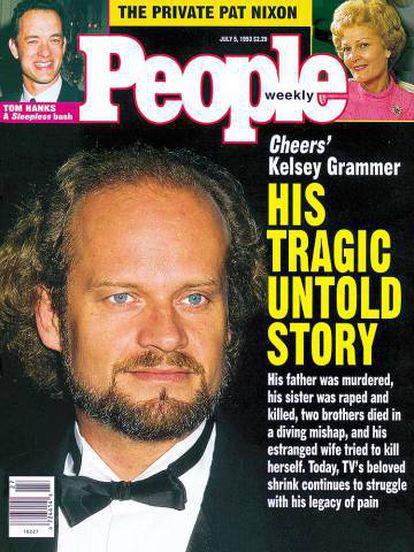 Portada de la revista 'People' de 1993 donde se detallaba la vida de Kelsey Grammer. Por aquel entonces estaba a punto de estrenarse su exitosa telecomedia 'Frasier'.