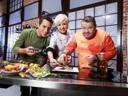 El jurado de 'Top Chef': Yayo Daporta (izquierda), Susi Díaz y Alberto Chicote.