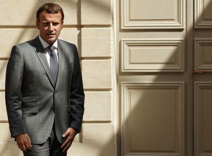 Macron, durante un acto oficial el pasado lunes en París.