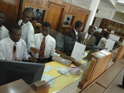 Akuapem Rural Bank de Mamfe, en Ghana.