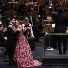 Yusif Eyvazov y Anna Netrebko, en el Teatro Real el viernes.