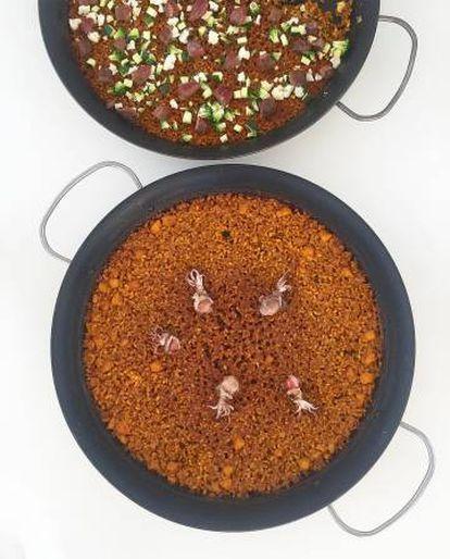 """""""¡Finas, por favor!"""" Recomendación de Quique Dacosta en su Instagram para elaborar el arroz."""