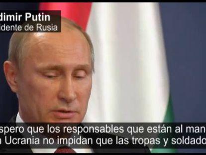 Vladimir Putin, este martes.