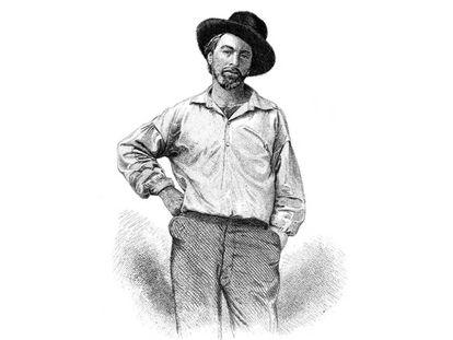 Grabado de Walt Whitman, realizado para la primera edición del monumental poemario 'Hojas de hierba', en 1855.