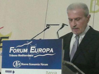 El rector de la Universitat de València, Esteban Morcillo, en el Fòrum Nueva Economía.