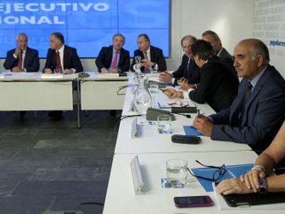 Esperanza Aguirre, durante la reunión del Comité Ejecutivo del PP.